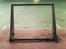 Back side of mini soccer goal Stock Photography