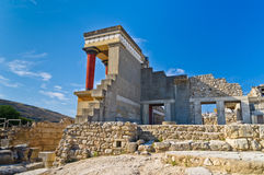 Back side of northern entrance to Knossos, Crete Royalty Free Stock Photo