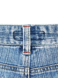 Back side of old blue jean Stock Photos