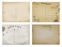 Back side of old postal cards royalty free illustration
