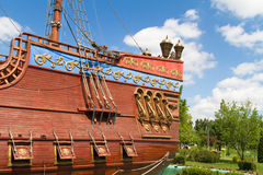 Back Side of Pirate Ship Royalty Free Stock Photos