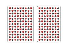The back side of the playing card. stock illustration