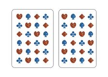 The back side of the playing card. vector illustration