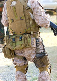 Back Side of A Soldier. Stock Photography