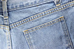 Back side Texture of blue jeans Stock Photo