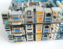 Сomputer main boards. Royalty Free Stock Photography
