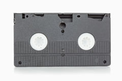 Back side of a video tape. Against a white background Royalty Free Stock Image