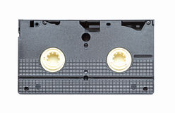 Back side of a video tape Royalty Free Stock Image