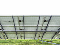 Back side view photovoltaics solar panels Royalty Free Stock Photography