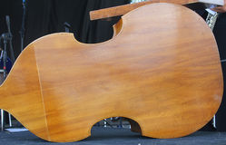 Back side of a violoncello. The back side of a violoncello stock photo