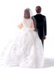 Back side of wedding dolls Royalty Free Stock Images