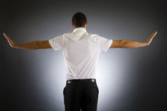 Back side of a well dressed businessman Royalty Free Stock Images