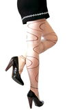 Back side of woman legs Stock Image