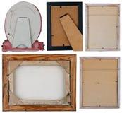 Back sides of photo frames stock image