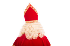 Back of Sinterklaas on white background Stock Image