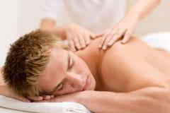 back som har lyxig manmassage Royaltyfri Foto