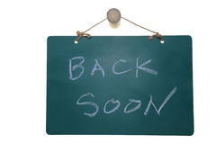 Back soon Royalty Free Stock Photography
