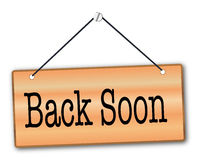 Back Soon Royalty Free Stock Images