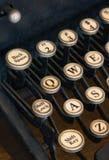 Back Space, Lock, Shift Key. Back Space, Shift Lock, Shift Key - old typewriter keys closeup Royalty Free Stock Image