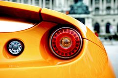 Back of a sports car Royalty Free Stock Photo