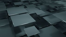 Back squares abstract 3D illustration. Black squares abstract geometric background. 3D illustration vector illustration