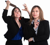 Back Stabbing Businesswomen Royalty Free Stock Photo