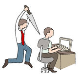 Back Stabbing Coworker Royalty Free Stock Photo