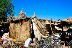 Back of a stall in the market of Djenné. 
