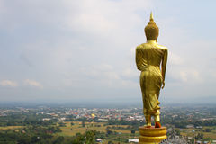 Back stand golden buddha. Golden buddha in thailand is most beautiful in south east asia Stock Images