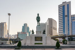 Back of The statue of King of Siam Vajiravudh Stock Image