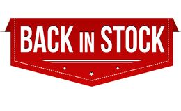 Back in stock banner design royalty free stock images