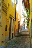 Back street. Bellagio back street,detail of the pavement, in Italy Royalty Free Stock Image