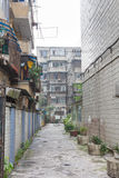 Back street in Chengdu, China Stock Photo