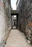 Back street in China. An old alley way in Tongli China Royalty Free Stock Photos