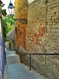 Back street downstairs Royalty Free Stock Images