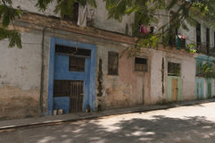 Back street houses Havana Cuba Stock Photography