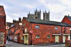Back street in Lincoln, England Stock Photography