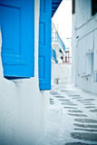 Back street, Mykonos Stock Photography