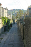 Back street, Saltaire, West Yorkshire. A view of a back street in the World Heritage village of Saltaire, near Shipley, in West Yorkshire, England Royalty Free Stock Photo