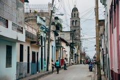 A back street in Santa Clara, Cuba. stock photo