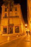 Back streets and lanes at night Montpellier France urban & archi Royalty Free Stock Photos