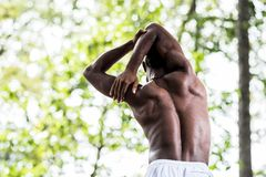 Back stretching Royalty Free Stock Photography