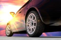 Back sunset car Stock Photo