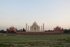 The back of the taj mahal at sunset royalty free stock images