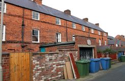 Back of terrace houses Stock Photography