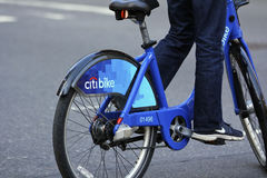 The Back Tire of a New York Citibike Stock Images