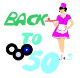 Back to the 50's vector illustration