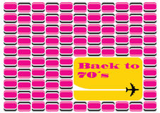 Back to 70s. Retro pattern graphics from 70s Stock Photography