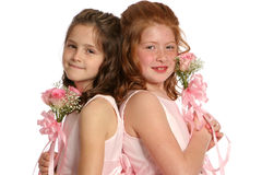 Back to Back sisters landscape Royalty Free Stock Images