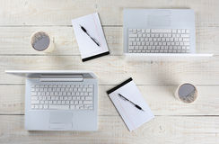 Back-to-Back Work Stations Stock Images